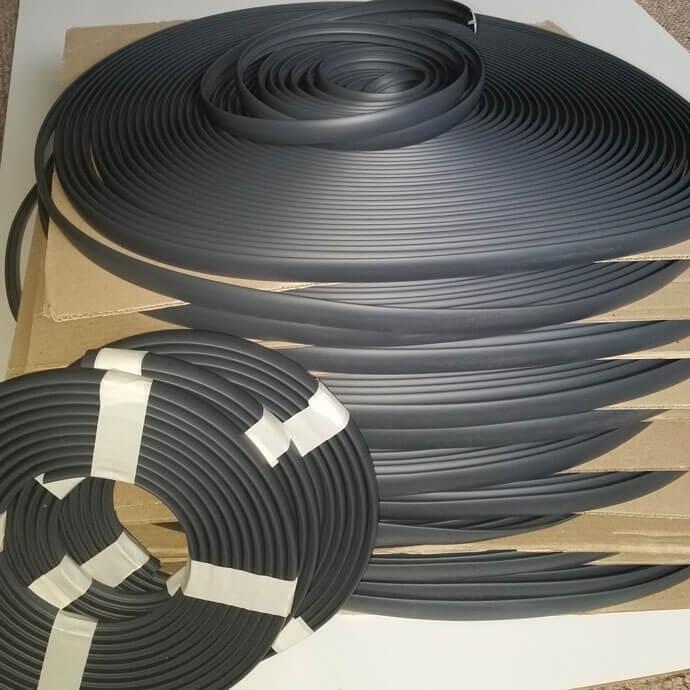 10 metres dark gray single lipped t trim edging for 15mm for Furniture t trim edging