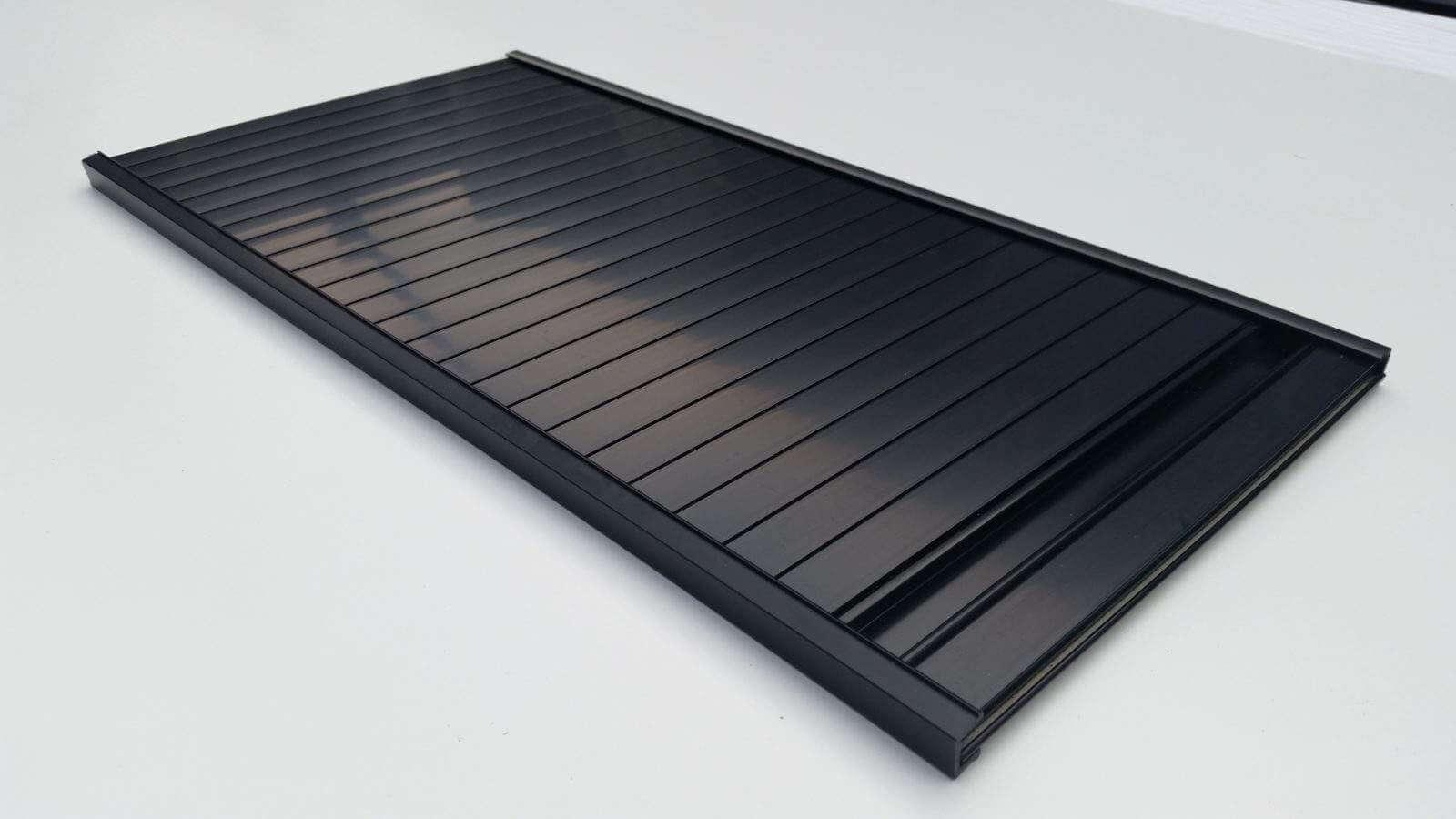 W200mm X L600mm Campervan Motorhome Black Tambour Door